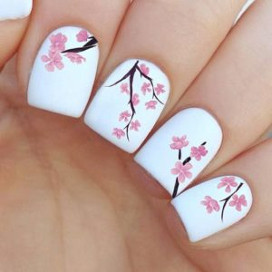 Cherry Tree Nail Decal